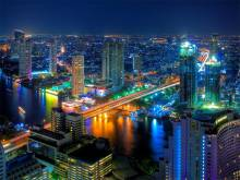 Ville de Bangkok by night